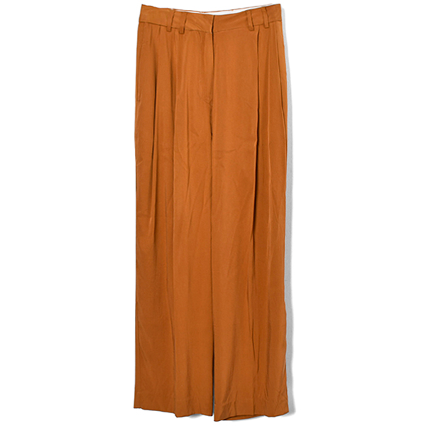 Vintagesatin Tuck Pants/ORANGE