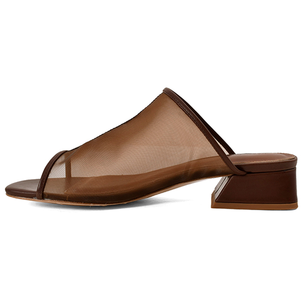 Sheer Piping Sandals/BROWN
