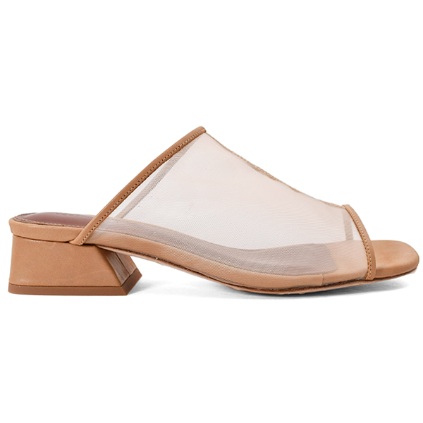 Sheer Piping Sandals/NUDE