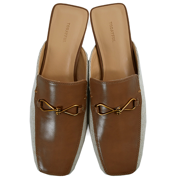 Canvas Loafer Slippers/BROWN