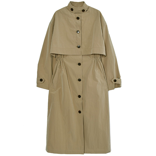 Cape Trench Coat/BEIGE