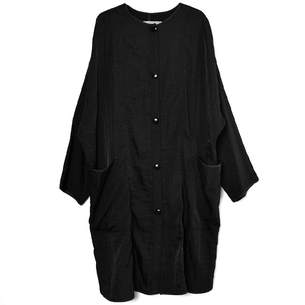 Nylon Rough Gown/BLACK