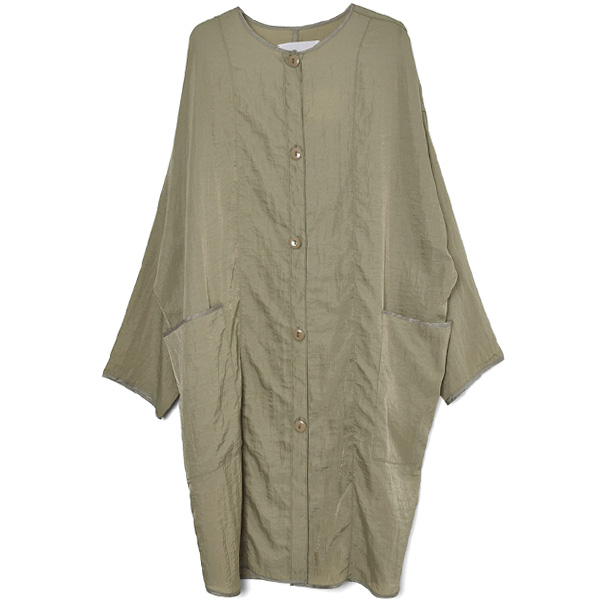 Nylon Rough Gown/OLIVE