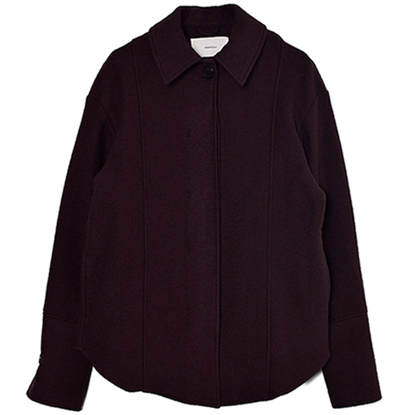 Wool Shirts Jacket/DARK PURPLE