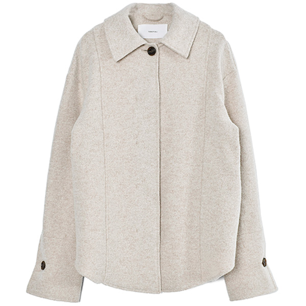 Wool Shirts Jacket/NATURAL