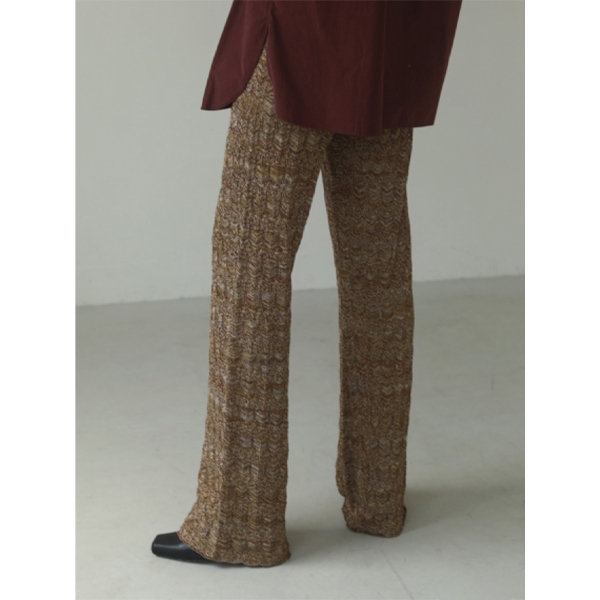 Lace Knit Leggings/CAMEL