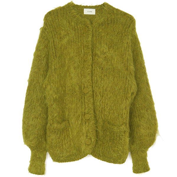 SHAGGY OVER CARDIGAN/YELLOW