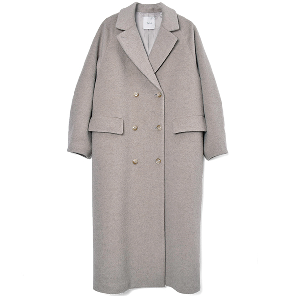 DOUBLE WOOL LONG COAT/IVORY