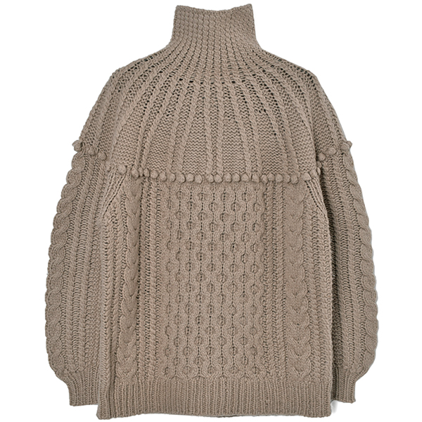 ARCH CABLE HAND KNIT/BEIGE