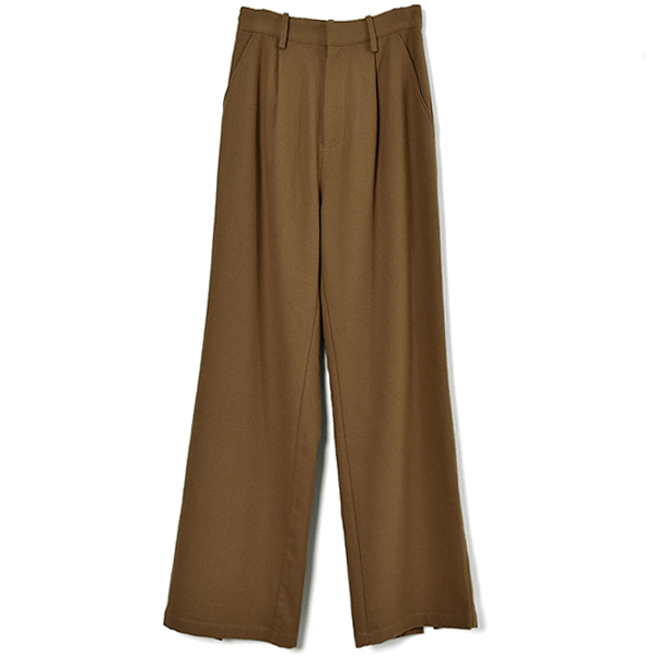 BACK SLIT STRAIGHT PANTS/BEIGE