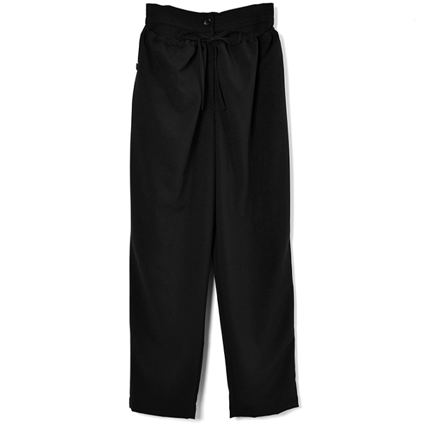 DOWN WAIST MILITARY PANTS/BLACK