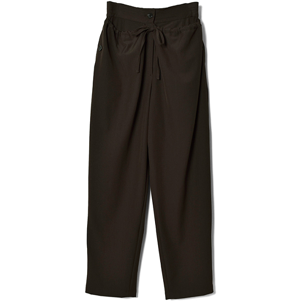 DOWN WAIST MILITARY PANTS/BROWN