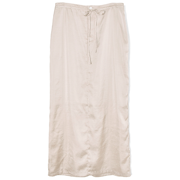 FRONT GATHER RELAX SKIRT/IVORY