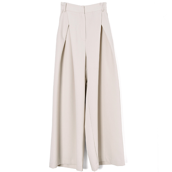 CROSS TUCK WIDE PANTS/IVORY