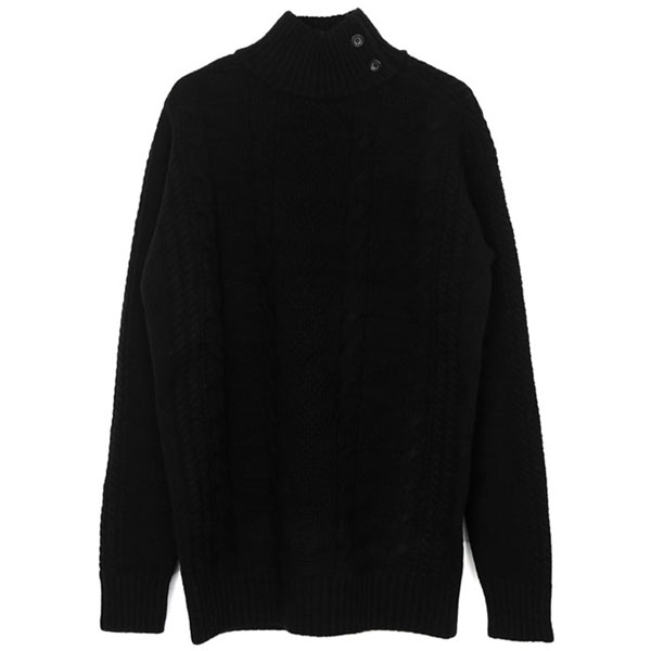 EYRE KNIT HIGH NECK PULLOVER/BLACK
