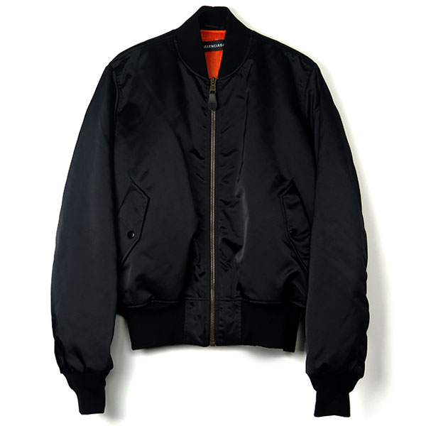 EMBROIDERED LOGO BOMBER JACKET/NOIR