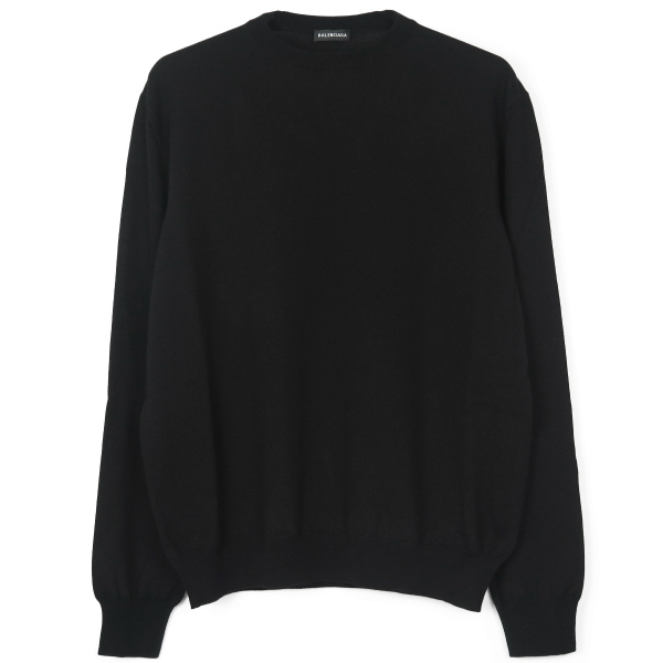 L/S CREWNECK WOOL KNIT/BLACK