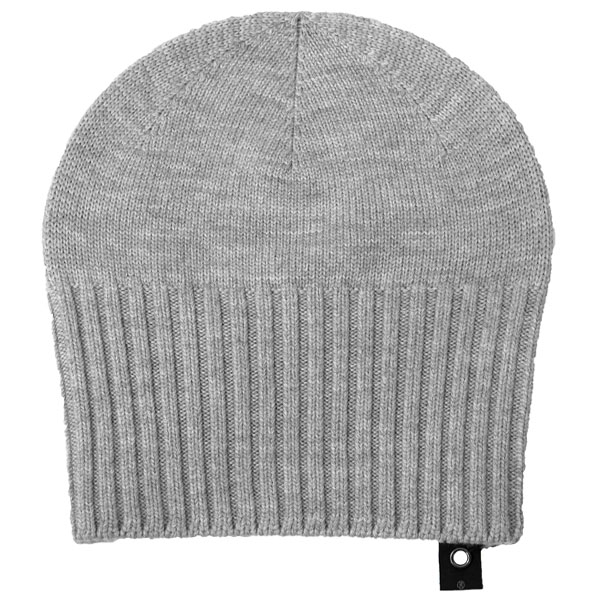2-way knit cap/top gray