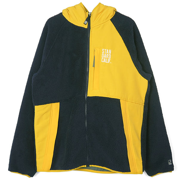 SD Classic Pile Hood Jacket / DLS L+2/NAVY×YELLOW