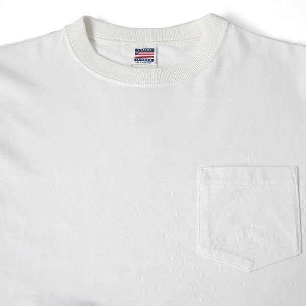 SD USA HEAVYWEIGHT POCKET Long Sleeve-T/WHITE