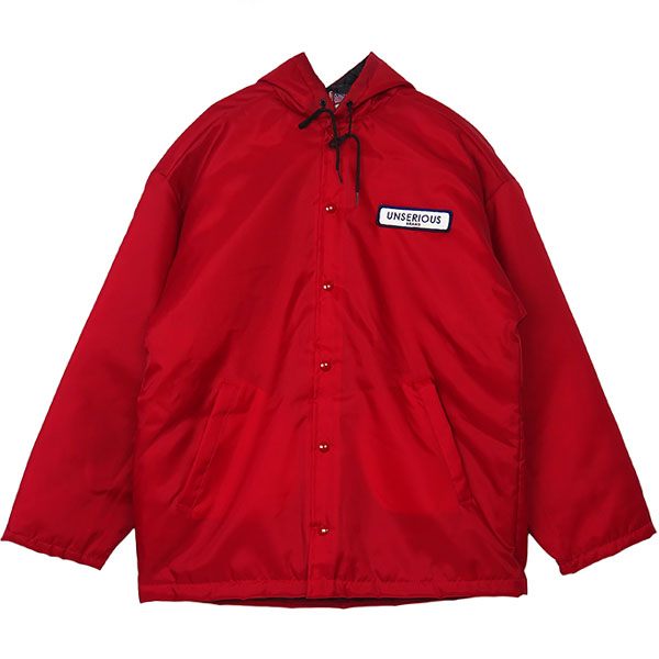 UNSERIOUS Hood Coach Jacket/RED