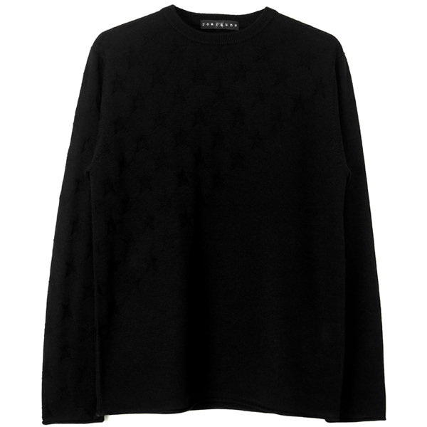 12GG/STAR JQ/KNIT/SW/BLACK(18FGK-03A)