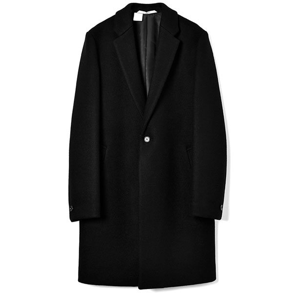 CHESTERFIELD COAT/BLACK