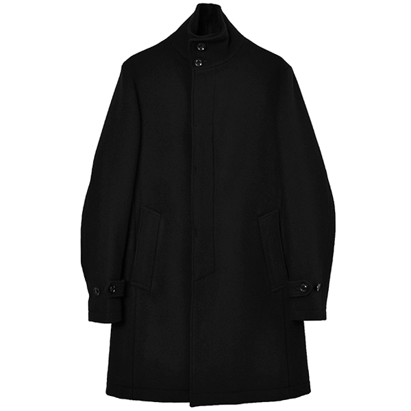 STAND COLLAR COAT/BLACK