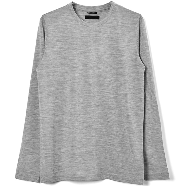 SERIBU CREW NECK L/S/LIGHT GRAY