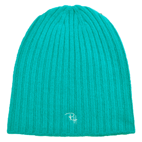 RH CASHMERE BEANIE/TURQUOISE