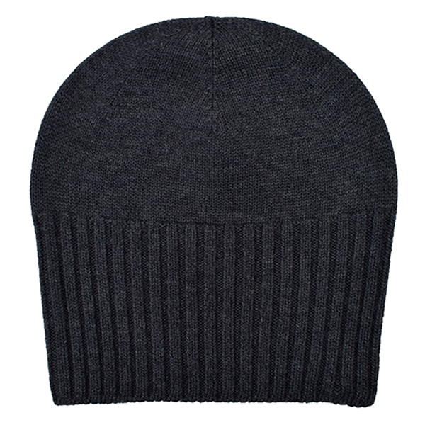 2-way knit cap/charcoal