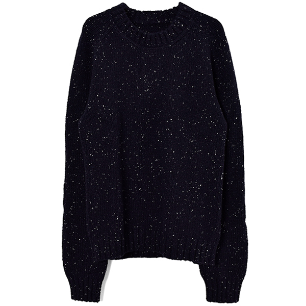 3 GAUGE KINIT SWEATER/NAVY