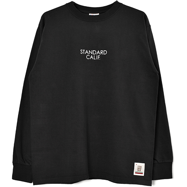 SD Heavyweight Long Sleeve T with Logo/BLACK