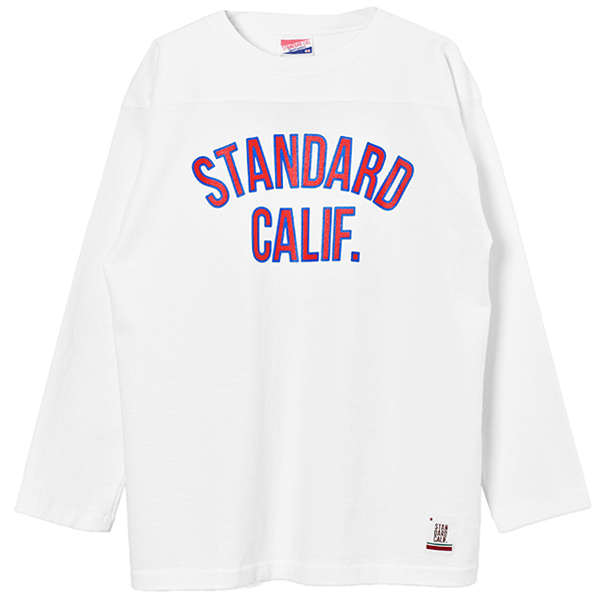 SD Heavyweight Football Long Sleeve T/WHITE