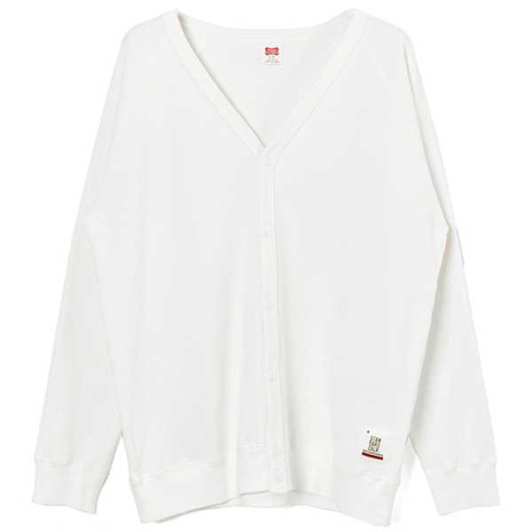 SD Heavyweight Honeycomb Thermal Cardigan/WHITE
