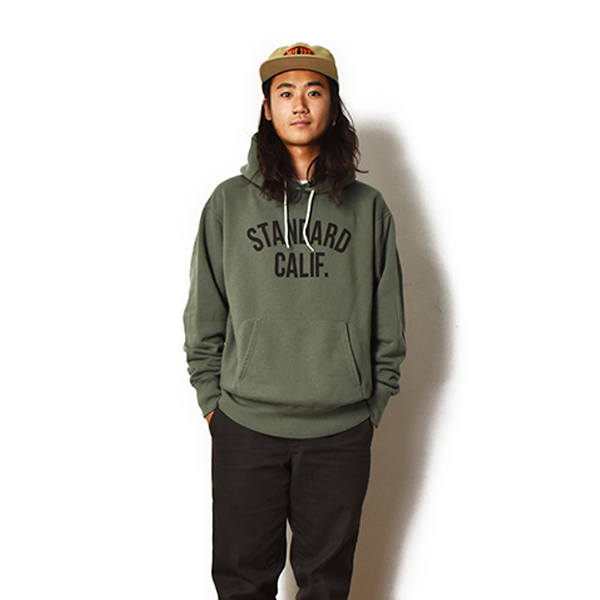 SD Pullover Hood Sweat with Logo/OLIVE
