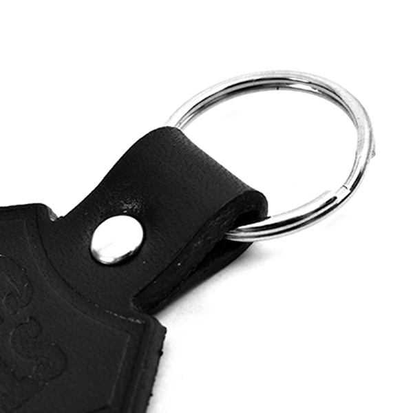 Button Works × SD Shield Logo Leather Key Holder/BLACK