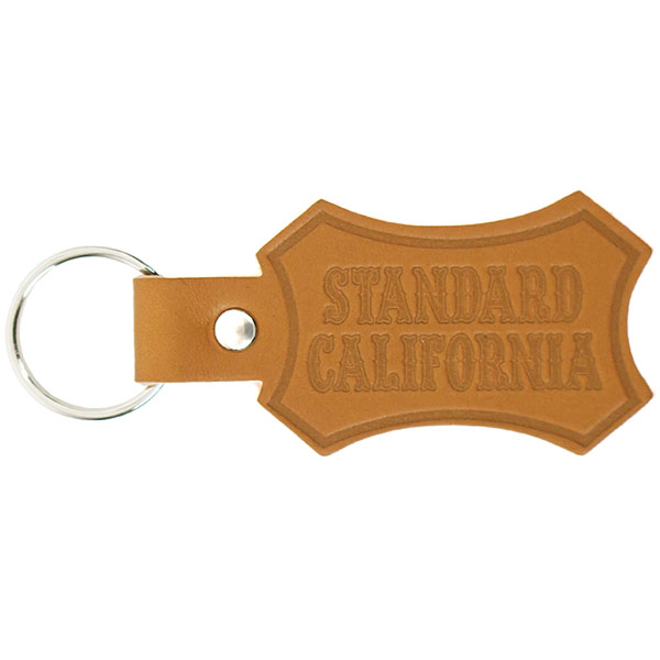 Button Works × SD Shield Logo Leather Key Holder/LIGHT BROWN