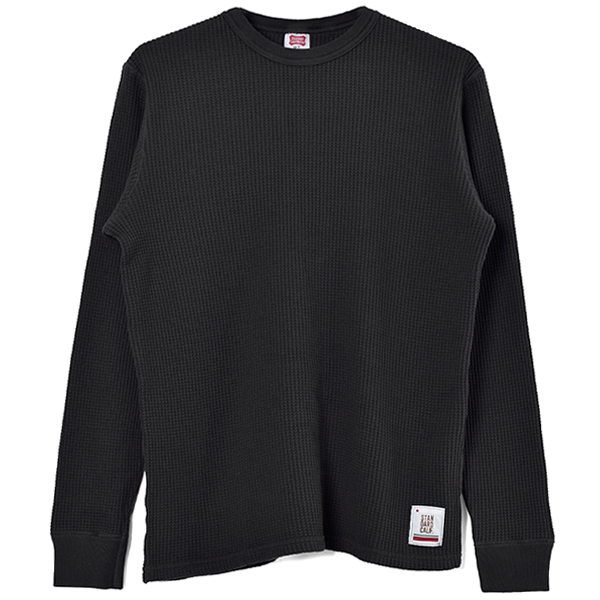 SD Waffle Thermal Long Sleeve T/BLACK