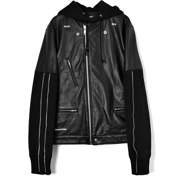 RIDERS HOODED BLOUSON/BLACK