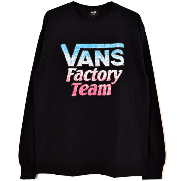 VANS × SD Factory Team Splash Logo Long Sleeve T/BLACK