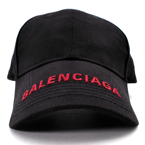 BALENCIAGA LOGO CAP/BLACK/RED