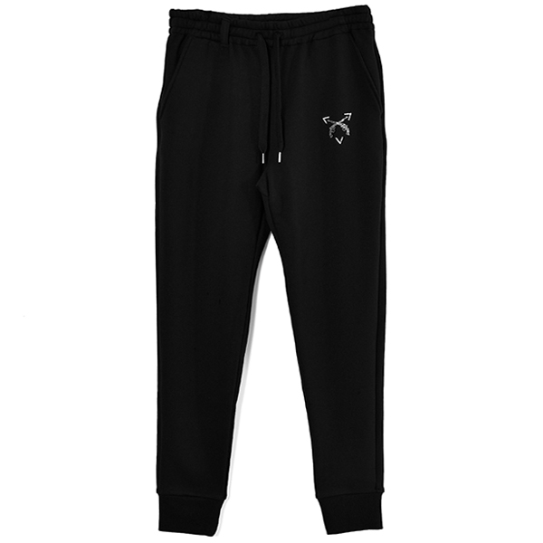 CRYSTAL CROSSGUN SWEAT PANTS/BLACK