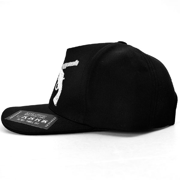5PANELS SPANGLE CAP/BLACK×SILVER