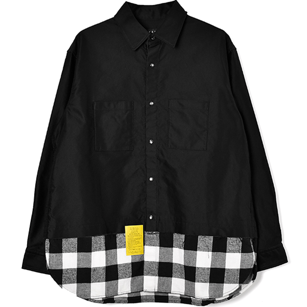 SWITCH CHECK SHIRT/BLACK