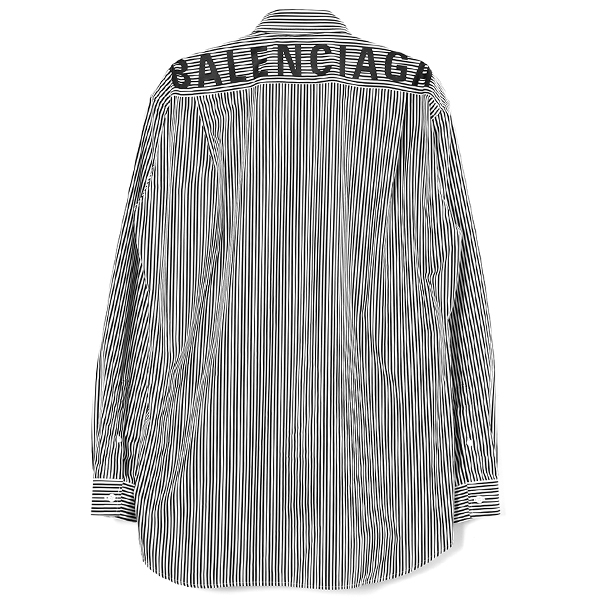 STRIPE LOGO SHIRT/WHITE/BLACK