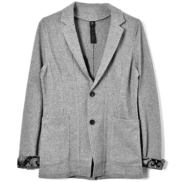 boucle summer jacket/GRAY