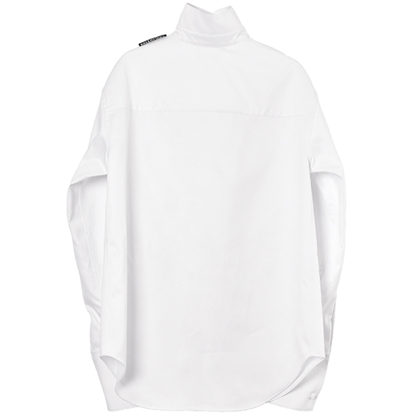 PULLED L/S SHIRT/WHITE
