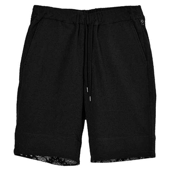 boucle summer shorts/black