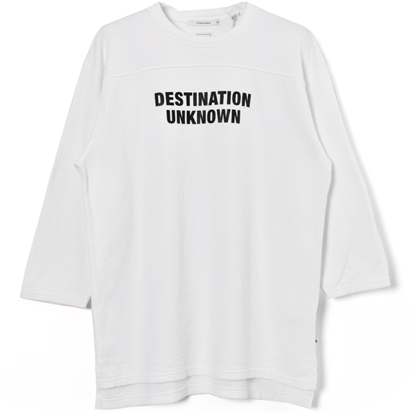 2LAYER 3/4SLEEVE TEE/WHITE